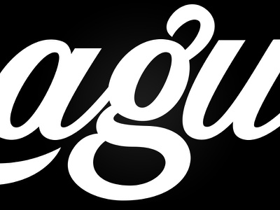 Double Story G lettering script lowercase double story g