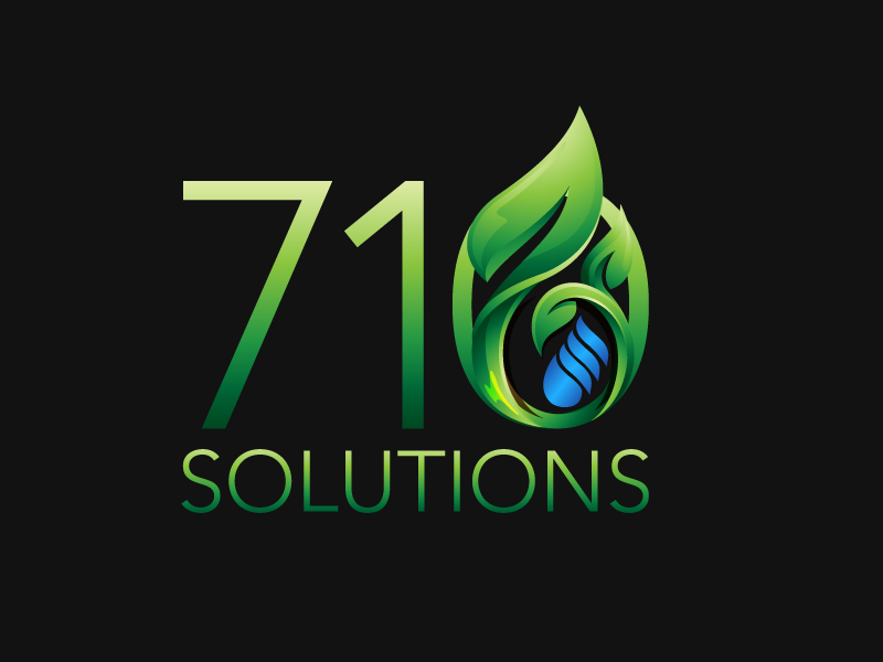 710 Solutions clean and simple typography branding logo design industry legal cannabis