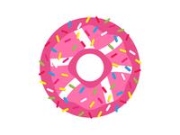 Yummy Doughnut Dribbble Sticker!