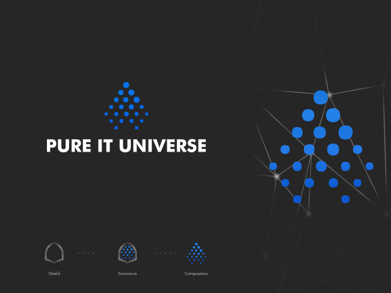 PureITUniverse.com Branding design vector palo alto networks technology exploration logo design concept cybersecurity security system security logo design