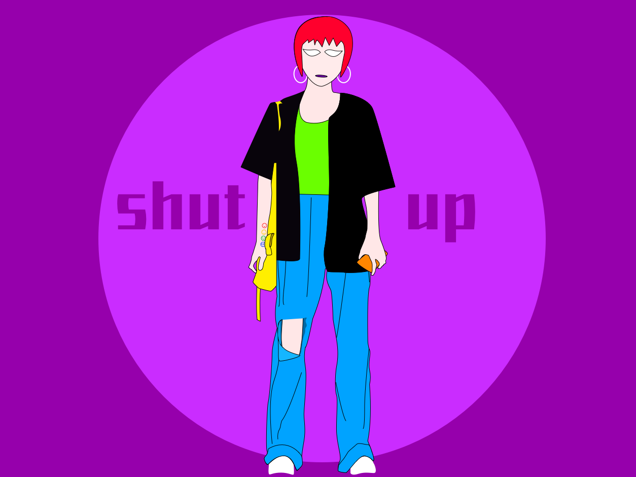 shut up illustrations