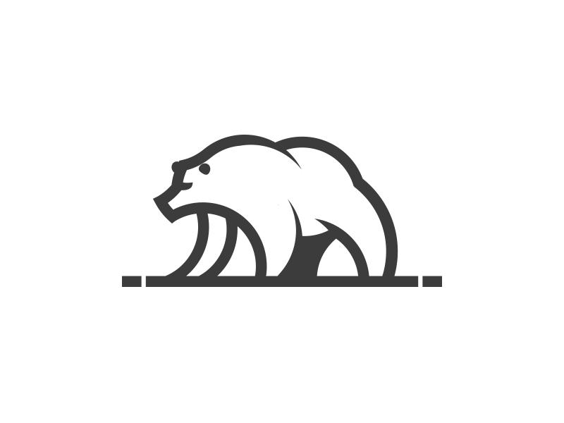 Ours Logo bear ours reelstreetart reelart reel monoline logo design buffle buffalo art