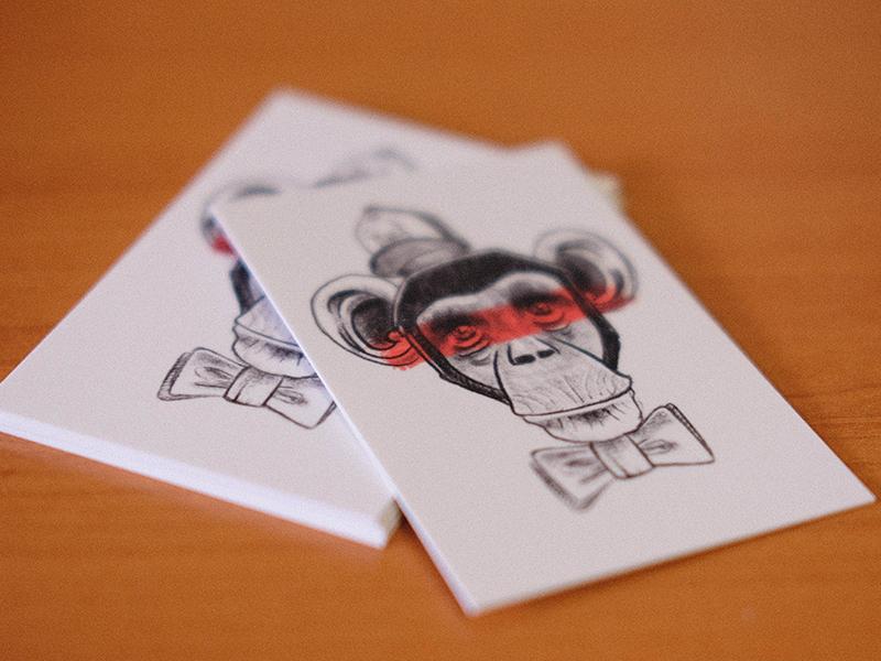 Carte De Visite Monkey By Reel