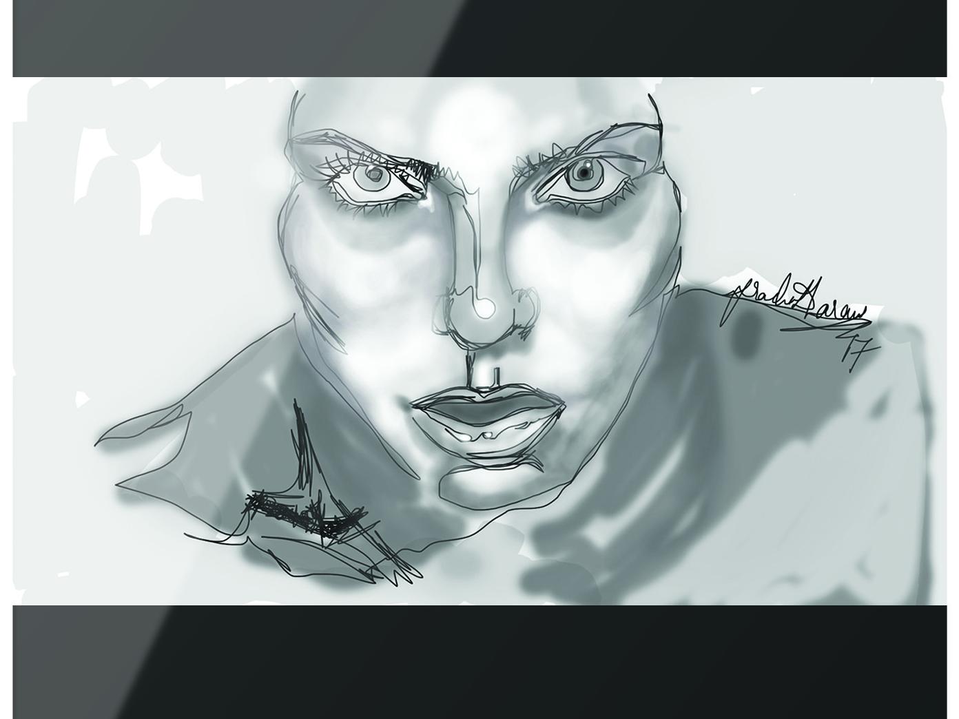 Blind line drawing. by Prachi Dharani | Dribbble | Dribbble