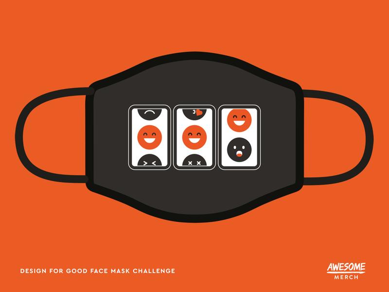 Design For Good Face Mask Challenge illustration mask covid 19 challenge face mask design for good