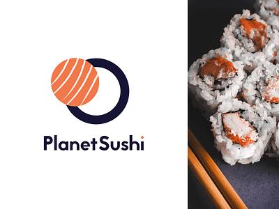 Weekly Warm-up — PlanetSushi sushi logo sushi rebrand logo weekly challenge weekly warm-up