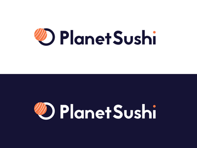Planet Sushi — Dribbble Weekly Warm-up planet sushi logo sushi rebranding rebrand logo weekly challenge weekly warm-up weeklywarmup