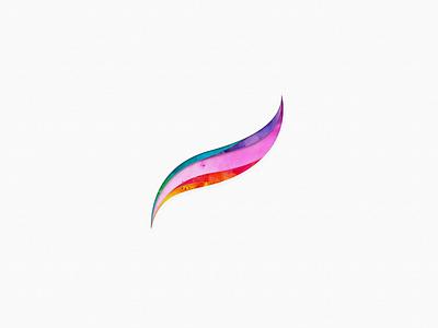 Get creative with Procreate papercut watercolor logo challenge procreate getcreativewithprocreate challenge logo