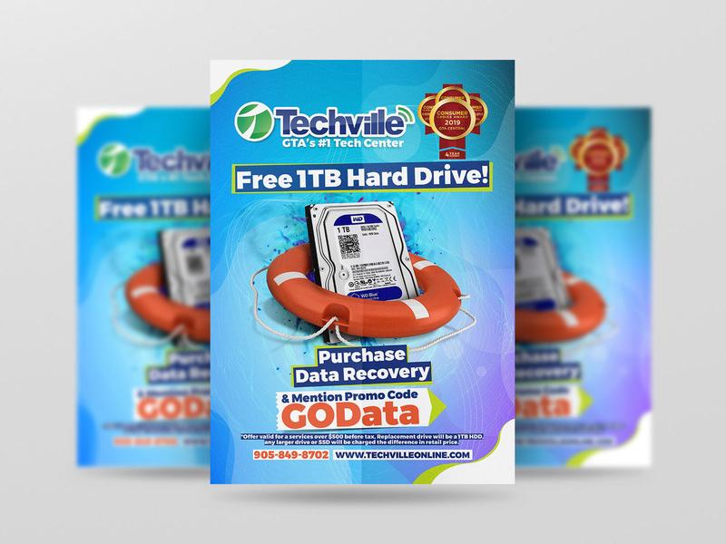 Posters for Techville Canada (GOTrain ADS - Oakville, Ontario)