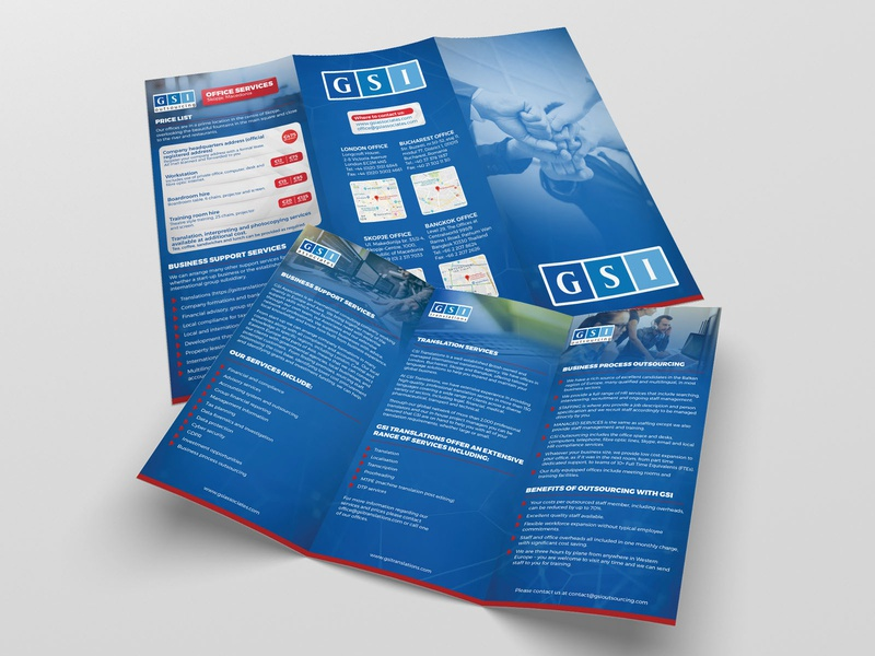 Informative Tri-fold Brochure (GSI London)