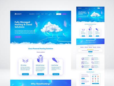 RoseHosting (web design proposal, rejected) webdesign web adobexd xd ux ui adobe design