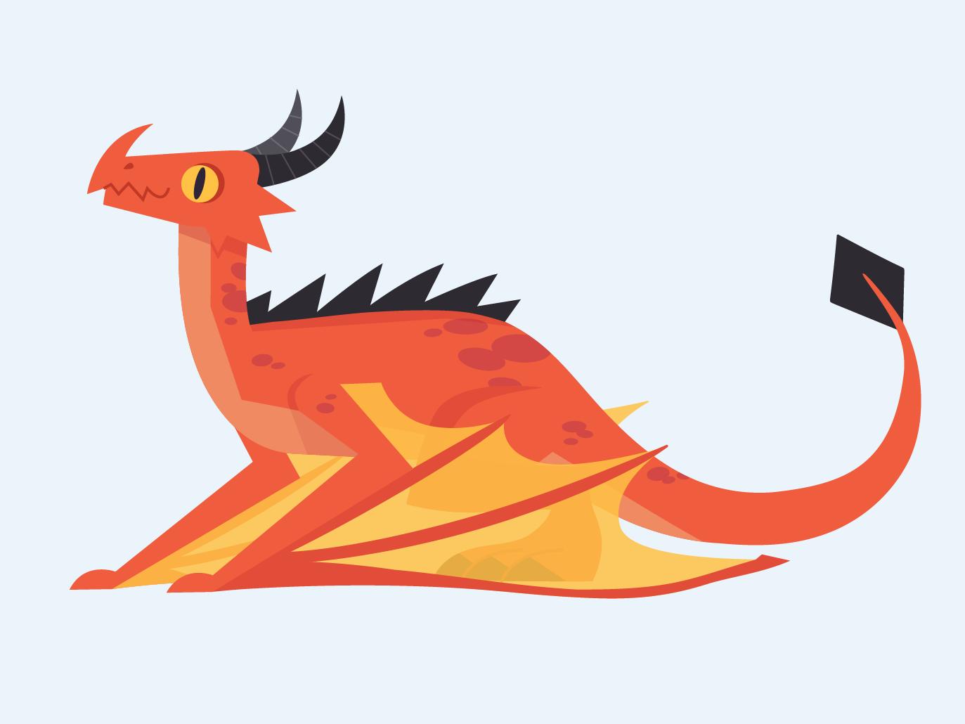 Vector Dragons - Wyvern design fantasy dragon adobe illustrator illustration vector