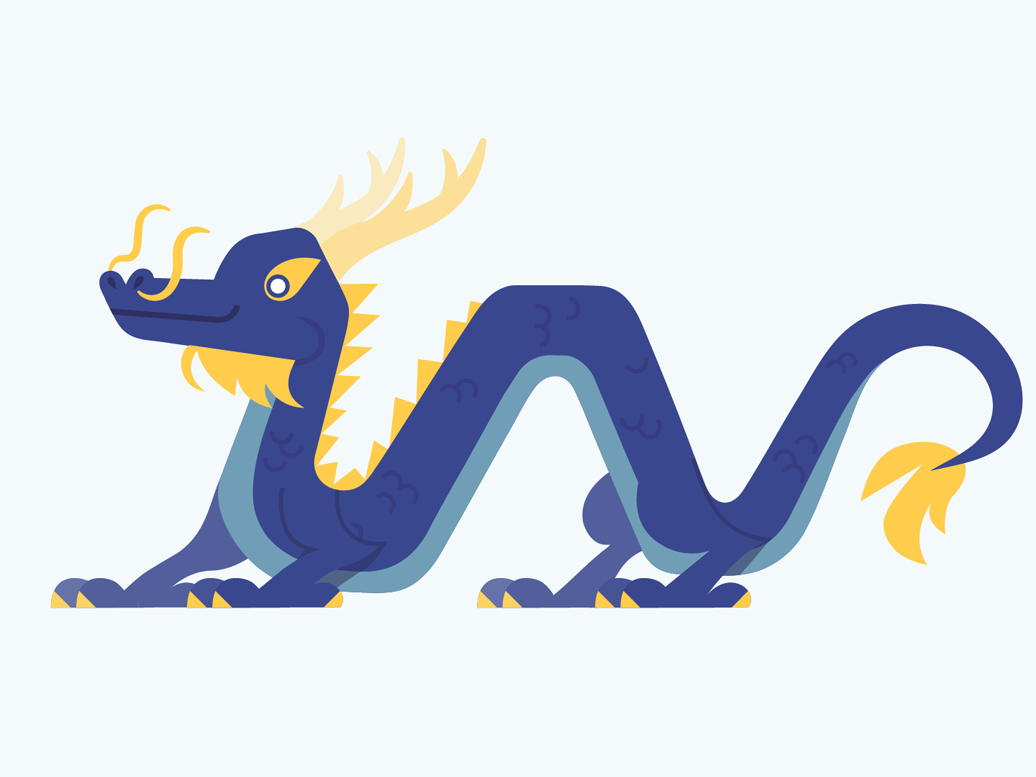 Vector Dragons - Chinese Dragon vector illustration fantasy dragon design adobe illustrator