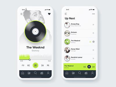 Music App white background app music app mobile app mobile ui icons ui design