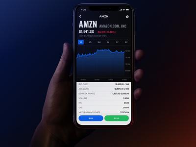 Stock market details page stock game mobile design mobile app ui details page brawlstreet stock market