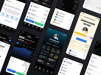 Stock market game mobile design mobile ui stockgame stock stock market