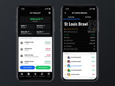 Wallet screen mobile design design stock market game stock market mobile app mobile ui wallet details my wallet