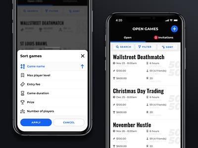 Mobile modal stock market mobile stock games sort games modal mobile design modal design modals