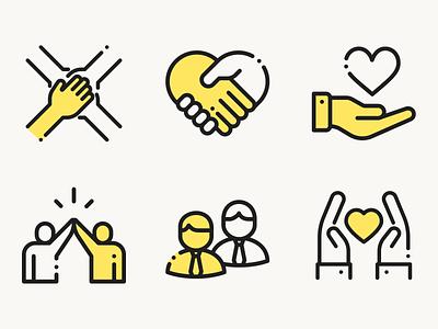 Icons for Non-profit organization template. non-profit icon set icons