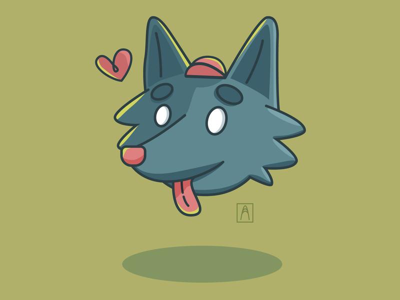 Wolf character wolf design vector head illustration