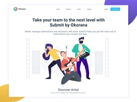 Okorana - Submit Landing Page