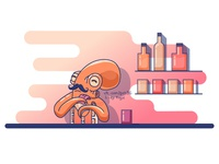 Octopus barman