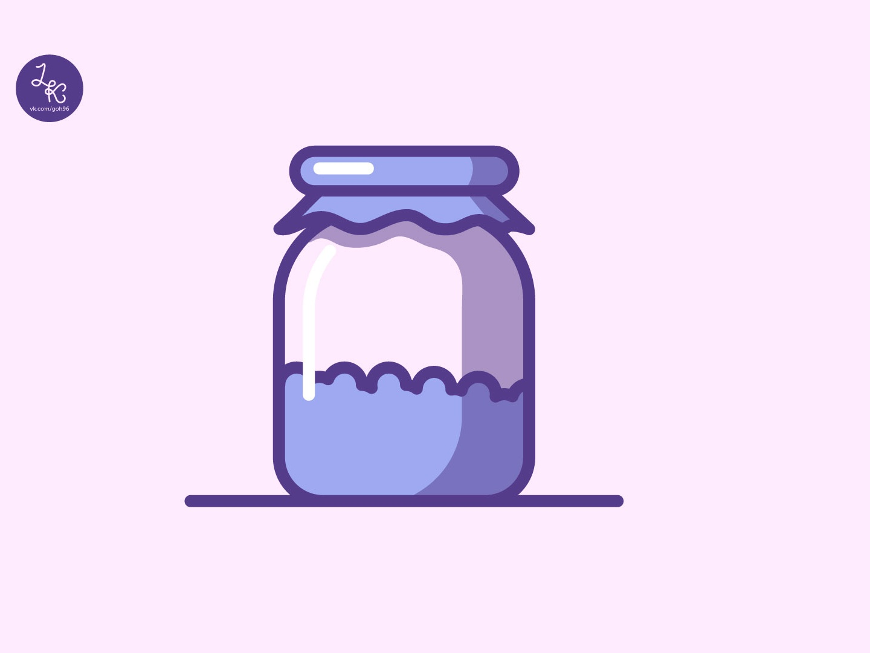 Sweet jar vector illustrator jar