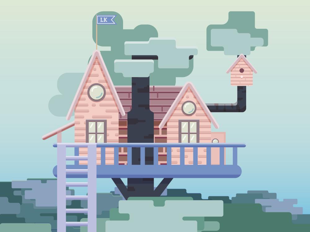 Tree house vector illustrator
