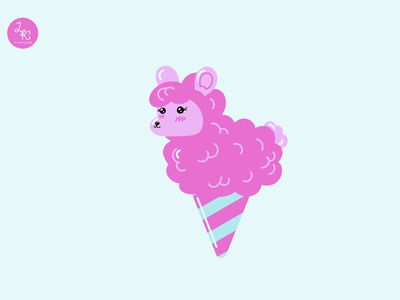 Sweet cotton candy animal