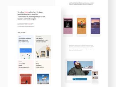 Portfolio Updates mobile website ui portfolio