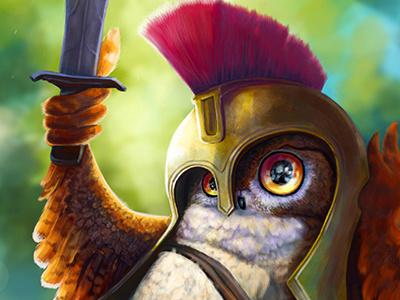 Owl warior digitalpainting characterdesign caracter owl