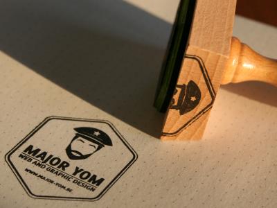 Major Yom custom stamp stamp logo vector custom identity design ink print rubber