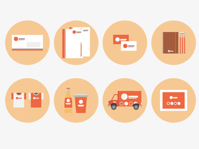 Icon Study - Branding icons icon vector branding corporate identity flat envelop invoice packaging truck car ipad