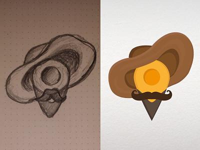 Rubens pointer rubens painter map pointer vector moustache hat