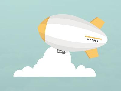 Zeppelin zeppelin illustrator flat blimp cloud blue sky vector air