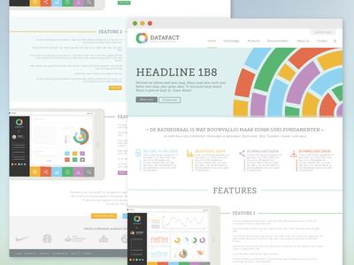 Landing page (WIP) web design flat landing page ui home page ux data graph chart