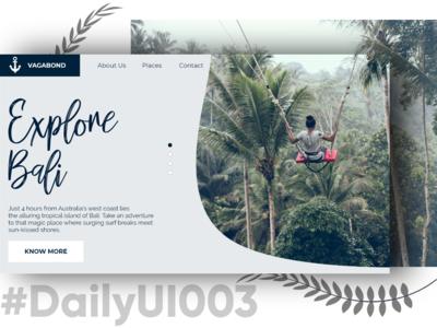 DailyUI003 - Vagabond