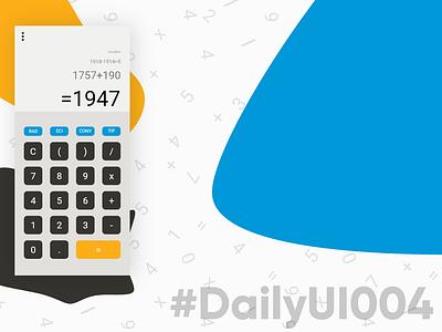 DailyUI004 - Calculator 004 adobexd numbers dailyui calculator color