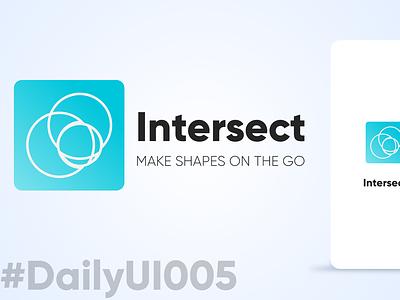 DailyUI005 - Intersect 005 dailyui shapes logo mobile logomaker adobexd