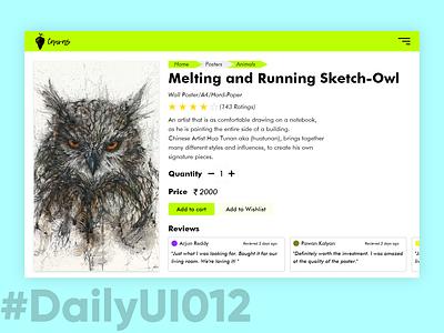 DailyUI012 - E-Commerce Shop 012 web ecommerce poster owl adobexd