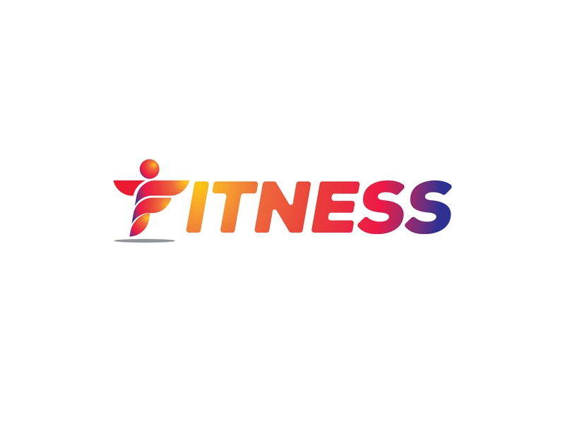 Fitness Wordmark brand sports gym minimal identity ux ui vector icon illustration design human fit fitness wordmark