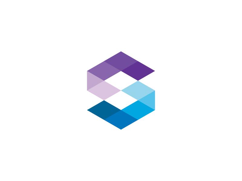 Abstract letter S web app monogram polygon modern abstract minimal identity design icon letter mark monogram mark logo
