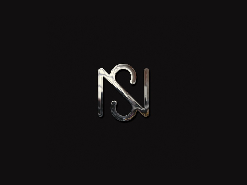 NS_wip branding vector monogram icon abstract design identity minimal logo ns