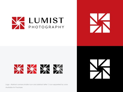 Abstract Shutter Logo red ui forsale mark monogram branding icon design minimal identity logo lens photo abstract shutter