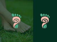 Logo exploration of foot combine with nature