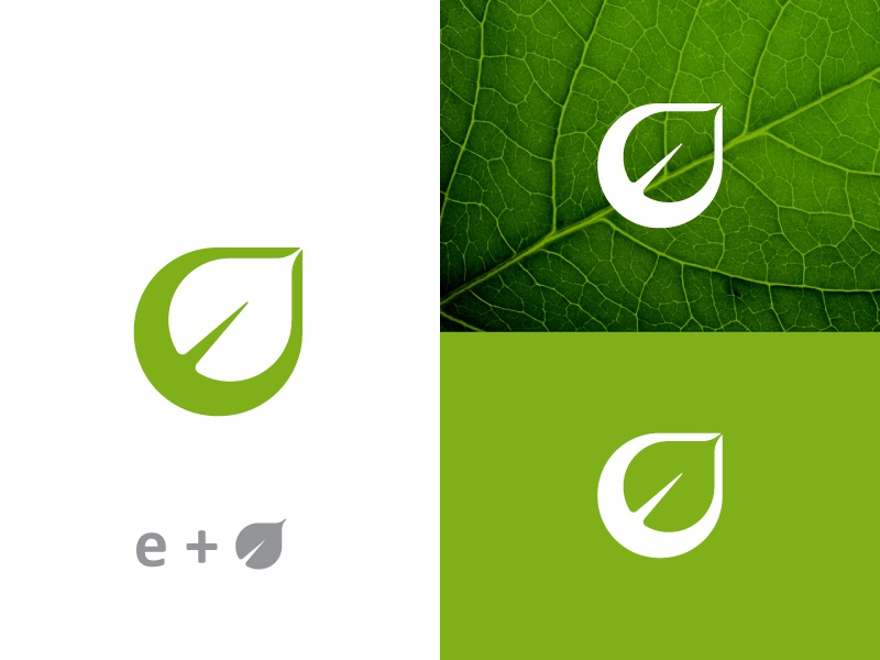 E Leaf Logo for sale by bhupesh on Dribbble