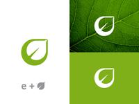 E Leaf Logo for sale