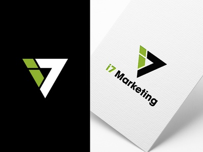 I7 Marketing Logo graphics vector abstract design minimal icon traingle identity logo arrow marketing i7