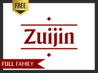 Zuijin - 3 fonts FREE *LIMITED OFFER*