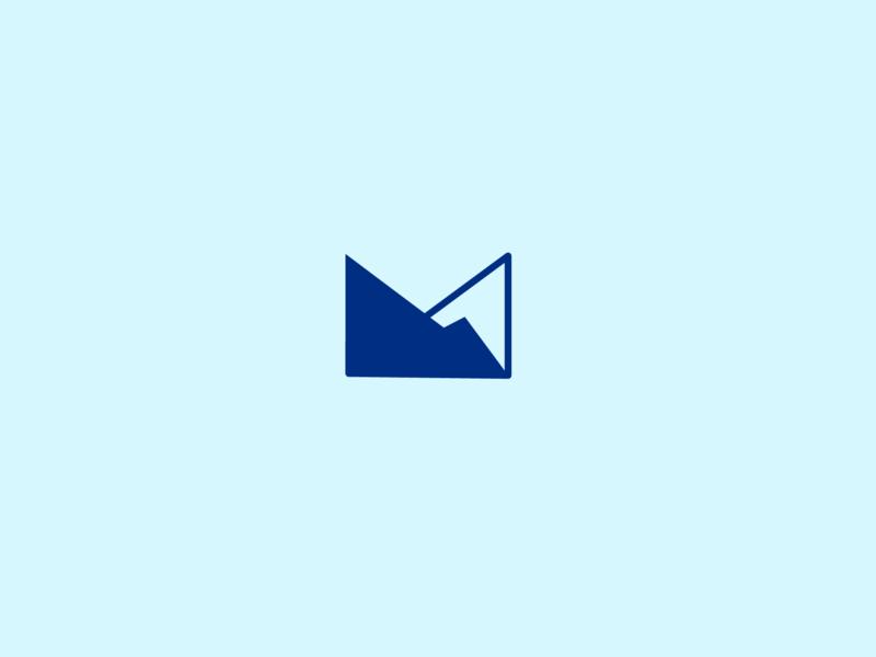 Mountain ridge logo typography logo designer blue grid logomark geometric logo design graphic design branding icon minimal graphic illustration vector identity symbol brand design mark logo